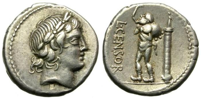 Ancient Coins - ROMAN REPUBLIC. SILVER DENARIUS. MARCIA 24. NICE CONDITION
