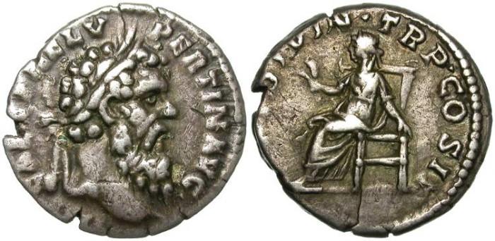 Ancient Coins - PERTINAX. SILVER DENARIUS. NICE PORTRAIT.