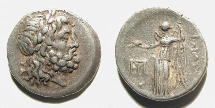 Ancient Coins - BEOTIA. DIDRACHM. GOOD VF. NICE STYLE. GORGEOUS JUPITER DEPICTION