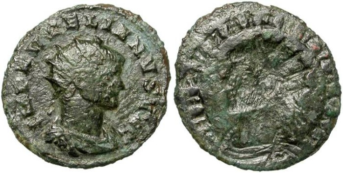 Ancient Coins - AURELIAN. AE ANTONINIANUS VERY RARE BROCKAGE !