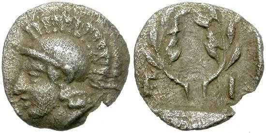 Ancient Coins - ELAIA, AEOLIS. HEMIOBOL. BEAUTIFUL MINIATURE.