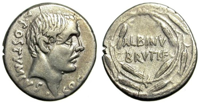 Ancient Coins - POSTUMIUS ALBINUS. DENAR. ROMAN REPUBLIC. NICE. SO INTERESTING