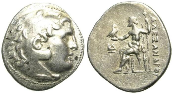 Ancient Coins - ALEXANDER THE GREAT. SILVER TETRADRACHM. RARE.