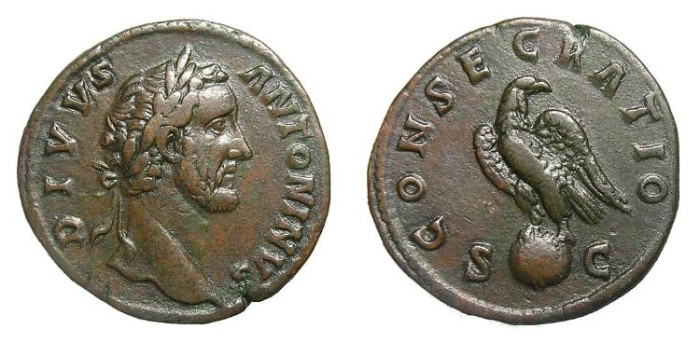 Ancient Coins - ANTONINUS  PIUS  SESTERTIUS.  GOOD  QUALITY.