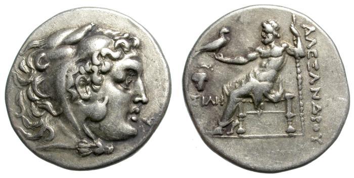 Ancient Coins - ALEXANDER III. SILVER TETRADRACHM. RARE. DIONYSOPOLIS. ATTRACTIVE SPECIMEN.