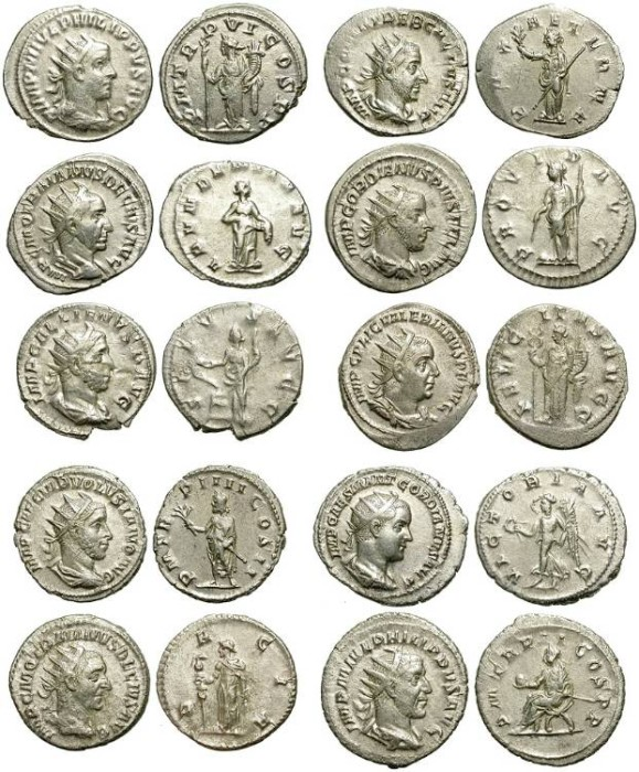 Ancient Coins - LOT OF 10 SILVER ANTONINIANI. DIFFERENT EMPERORS /3