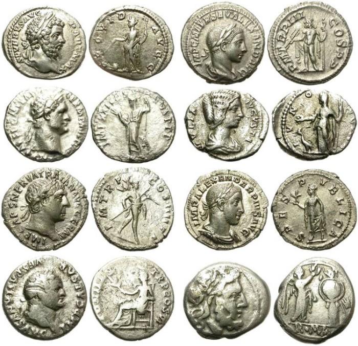 Ancient Coins - LOT OF 8 ROMAN SILVER DENARIUS. DECENT CONDITION. AFFORDABLE PRICE /1