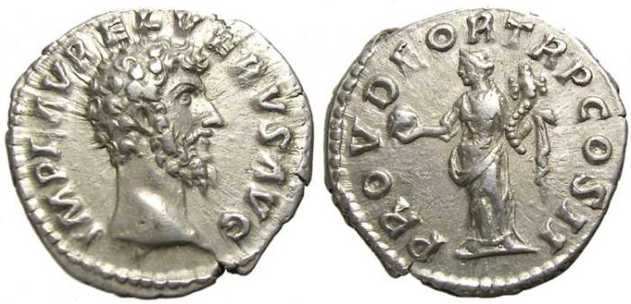 Ancient Coins - LUCIUS  VERUS  DENARIUS.  SCARCE. GOOD  PORTRAIT.