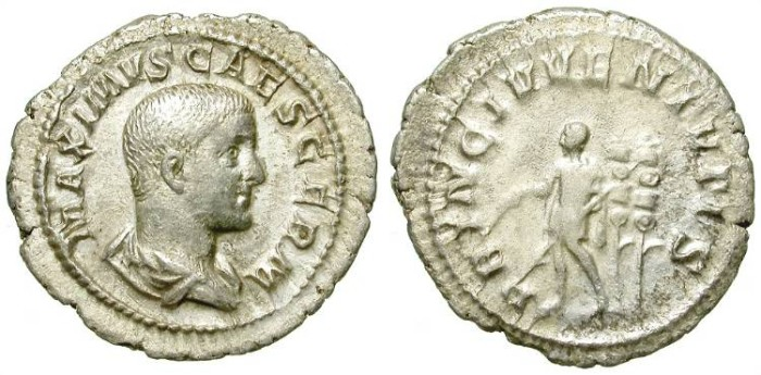 Ancient Coins - MAXIMUS. DENAR. SCARCE ISSUE. AFFORDABLE AND STILL ATTRACTIVE