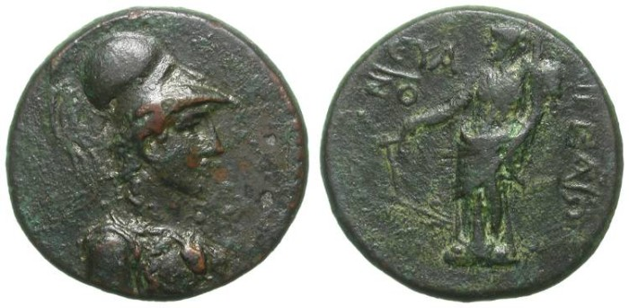 Ancient Coins - AIGEAI in CILICIA. NICE ATHENA BUST. VERY ATTRACTIVE COIN
