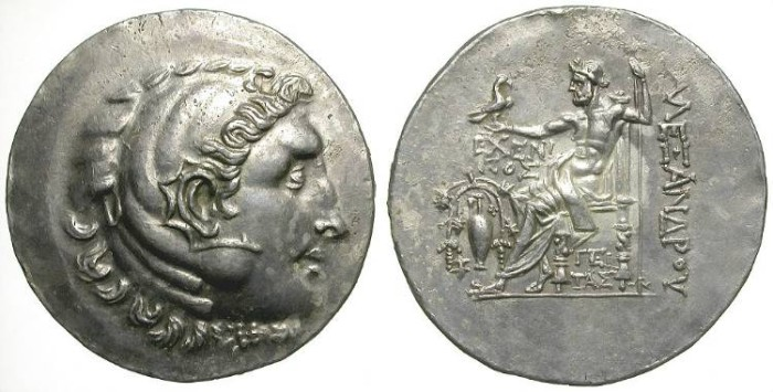 Ancient Coins - ALEXANDER THE GREAT. TETRADRACHM. TEMNOS. SO ATTRACTIVE