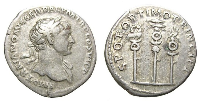Ancient Coins - TRAJAN  DENARIUS.  NICE  PIECE.