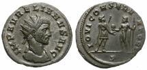 Ancient Coins - AURELIAN. BILLON ANTONINIAN. IOVI CONSERVATORI. SUCH A NICE PORTRAITURE !