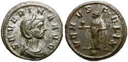 Ancient Coins - SEVERINA. 270-275 AD. DENARIUS. ATTRACTIVE.