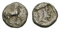 Ancient Coins - AINOS. OBOL. NICE MINIATURE ISSUE