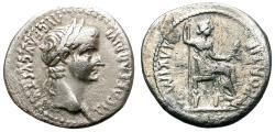 """Ancient Coins - TIBERIUS. AD 14-37. DEMARIUS. """"TRIBUTE PENNY"""" TYPE. LUGDUNUM."""