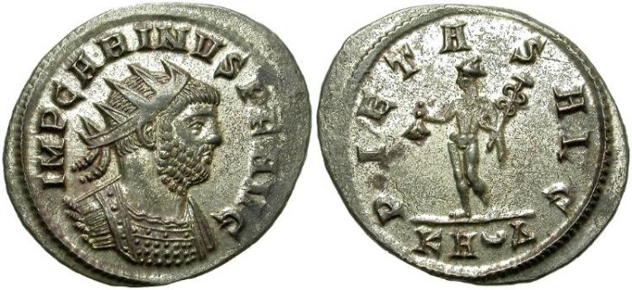 Ancient Coins - CARINUS. BILLON ANTONINIANUS: ATTRACTIVE PORTRAIT. MANY ORIGINAL SILVERING
