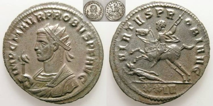 Ancient Coins - PROBUS. ANTONINIAN. SISCIA. UNCIRCULATED. MOST SILVERING REMAINING !