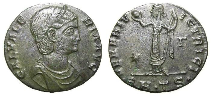 Ancient Coins - GALERIA  VALERIA,  W.OF GALERIUS.  FOLLIS.