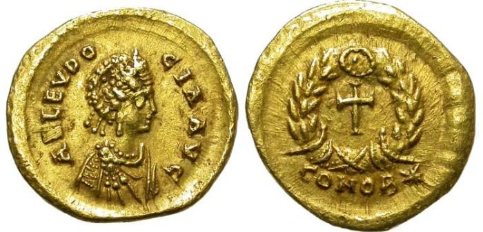 Ancient Coins - EUDOCIA.  423-460 AD. TREMISSIS. FANTASTIC  BUST.
