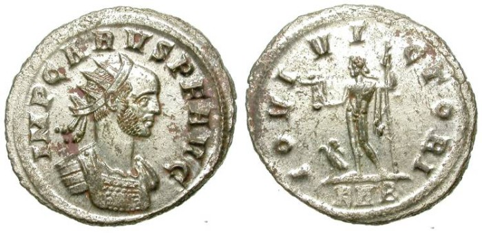 Ancient Coins - CARUS. AE ANTONINIANUS. ROME MINT.  ALMOST FULL SILVERING