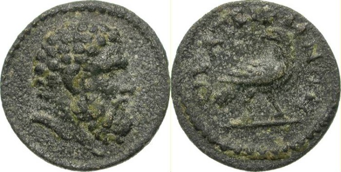 Ancient Coins - THYATEIRA, LYDIA. AUTHONOMOUS ISSUE. FORCEFUL HERAKLES PORTRAITURE
