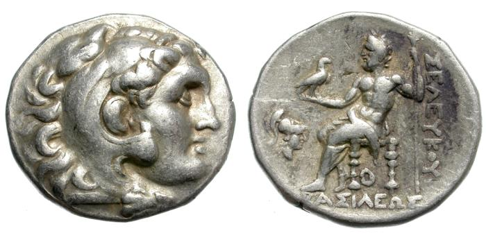 Ancient Coins - SELEUKOS I. 281-261 BC. AR TETRADRACHM. PERGAMON MINT. ATTRACTIVE AND INTERESTING.