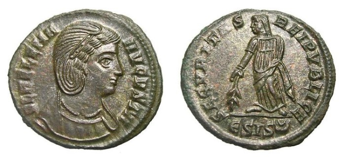 Ancient Coins - HELENA  AE FOLLIS.  MARVELLOUS  QUALITY.