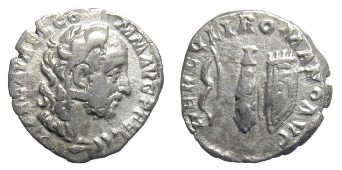 Ancient Coins - COMMODUS. DENAR. AS HERAKLES DEPICTION. NICE VF. BEAUTIFUL & INTERESTING ISSUE