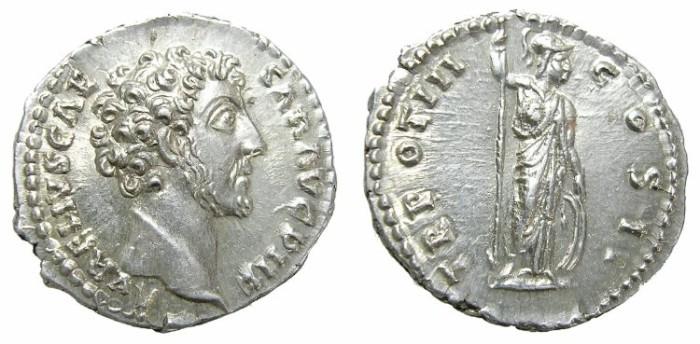 Ancient Coins - MARCUS  AURELIUS  DENARIUS.  MARVELOUS  COIN.