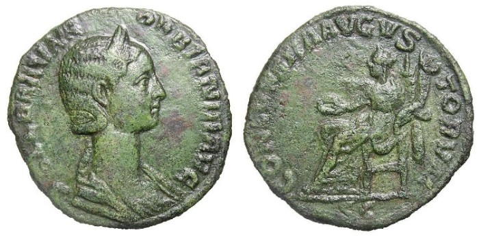 Ancient Coins - ORBIANA  SESTERTIUS.  VERY  SCARCE.