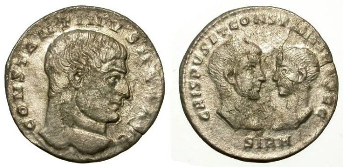 Ancient Coins - CONSTANTINE I THE GREAT. RARE MILIARENSE. SIRMIUM. SO INTERESTING COIN!