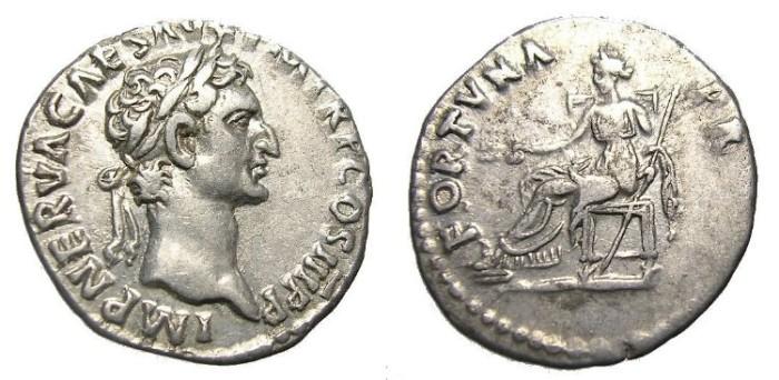 Ancient Coins - NERVA  DENARIUS.  GREAT  QUALITY.