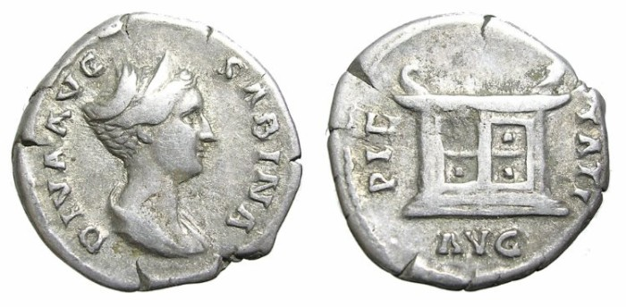 Ancient Coins - DIVA  SABINA. VERY  RARE.