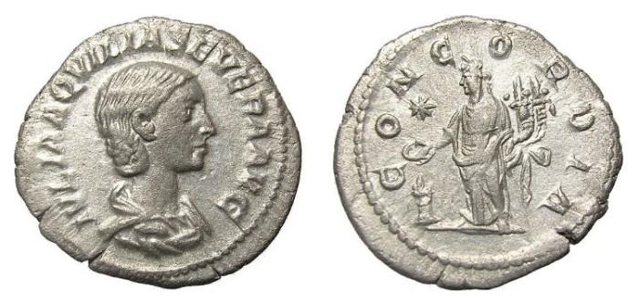 Ancient Coins - AQUILIA  SEVERA  DENARIUS.  SCARCE.