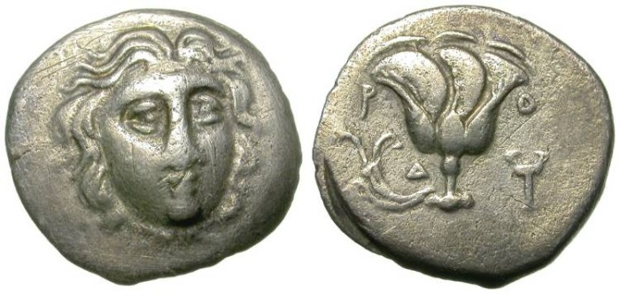 Ancient Coins - RHODOS. TETROBOL. INTERESTING AND AFFORDABLE