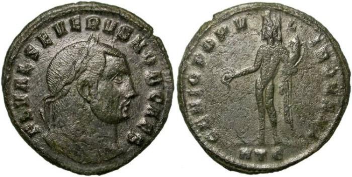 Ancient Coins - SEVERUS II. FOLLIS HERACLEA MINT. INTERESTING.