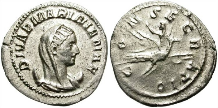 Ancient Coins - MARINIANA, Wife of Valerian. AR ANTONINIANUS. AD 254-256. SCARCE AND INTERESTING.
