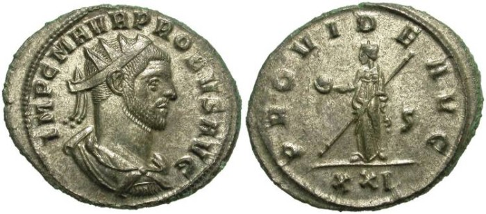 Ancient Coins - PROBUS. AE ANTONINIANUS. NICE PORTRAIT. MOST SILVERING REMAINING