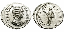 Ancient Coins - IULIA DOMNA. SILVER DENARIUS. 193-217 AD.  EXCELLENT QUALITY.