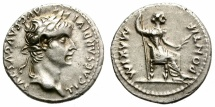 Ancient Coins - TIBERIUS. SILVER DENARIUS. TRIBUTE PENNY. EXCELLENT CONDITION. VERY NICE SPECIMEN
