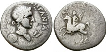 Ancient Coins - GALBA. SILVER DENARIUS. HISPANIA. SPANISH OR GAULISH MINT. VERY SCARCE EMISSION !