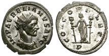 Ancient Coins - AURELIAN. AD 270-275. ANTONINIANUS. MEDIOLANUM. BEAUTIFUL BUST.