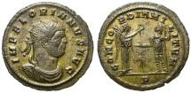 Ancient Coins - FLORIANUS. AE ANTONINIANUS. CONCORDIA MILITUM ON REVERSE. RARE & NICE
