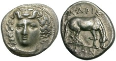 Ancient Coins - LARISSA,  THESSALY.  AR  DRACHM.  ATTRACTIVE  COIN.