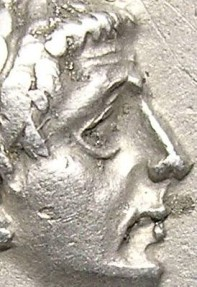 Ancient Coins - CLAUDIUS  DENARIUS.  A. D.  41-54  GREAT  PORTRAIT  AND VERY  BEAUTIFUL  REVERSE.