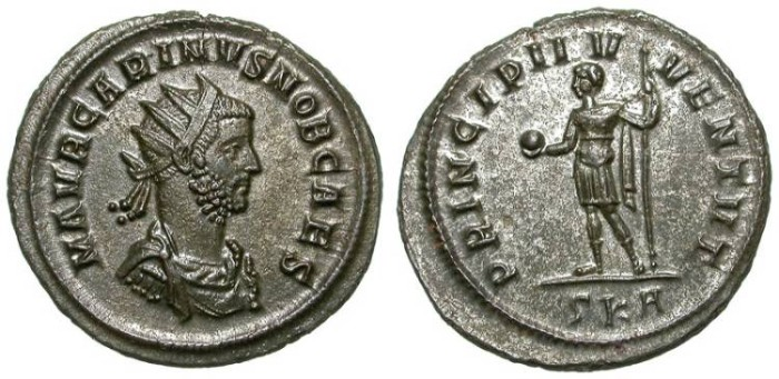 Ancient Coins - CARINUS. AE ANTONINIAN. EF. GREAT CONDITION. SUPERB PORTRAITURE !