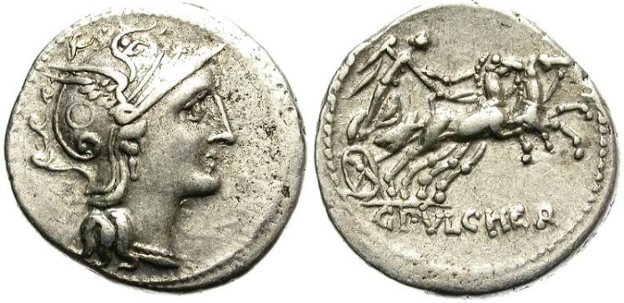 Ancient Coins - ROMAN REPUBLIC.  CLAUDIA-2. 110-109 BC.  AR DENARIUS. GOOD GENERAL CONDITION.