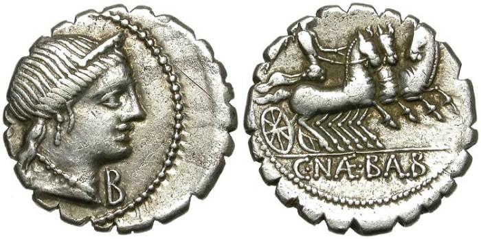 Ancient Coins - ROMAN REPUBLIC. SILVER DENARIUS. NAEVIA 6a