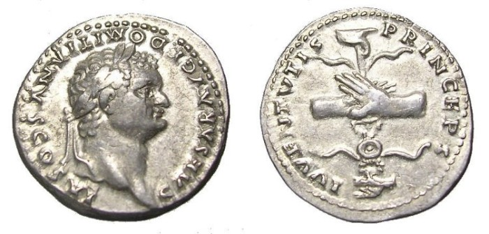 Ancient Coins - DOMITIAN  DENARIUS.  GREAT  QUALITY.